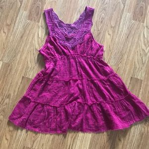 Free People Magenta Purple Tunic Top Size 6
